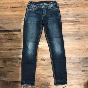 Silver Jeans Suki Fluid Denim Skinnies W26/L27 1/2